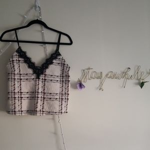 Zara Plaid Tank Top